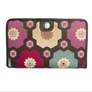 Spartina 449 Linen and Leather Wallet